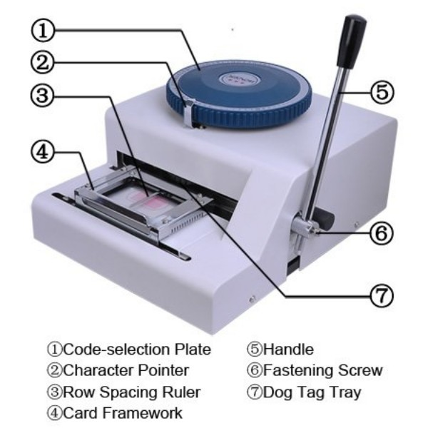 OEM dog tag embossing machine